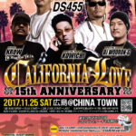 今週末11月25日(土)『CALIFORNIA LOVE』15th Anniversary 広島