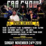 【DJ PMX出演情報】11月24日(日)THE LOW MAGAZINE CAR SHOW at アイメッセ山梨